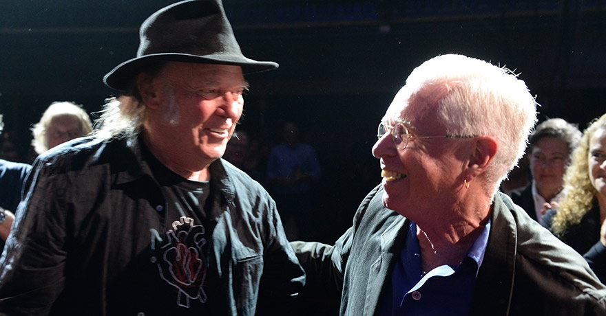 Photo of Bruce Cockburn and Neil Young