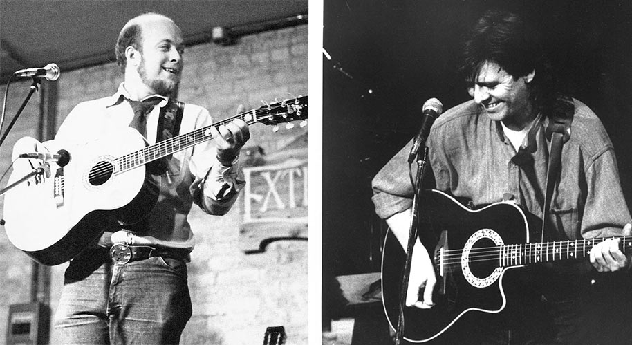 Photos of Lennie Gallant and Stan Rogers performing
